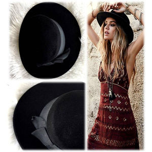 Express Black Boho Hat w/dust bag NWOT